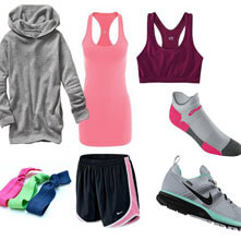 Sports clothes and footwear